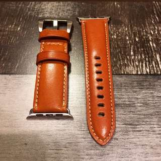 Premium Quality Leather Watch Band for Apple Watch Series 1 & 2 | 38mm/42mm |Honey Brown Color 高級意大利植油皮萍果手表帶 (蜜糖色) (42mm&38mm)