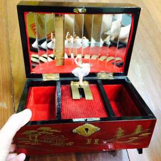 Traditional Japanese Wooden Music Box