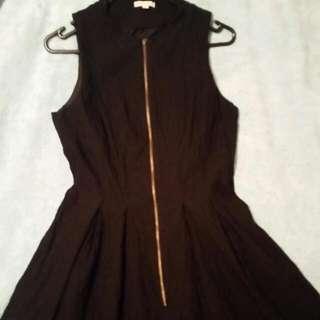 Size 12 Zip Front Work Dress