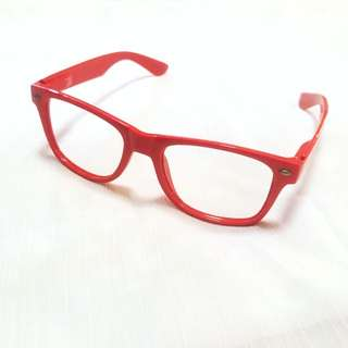 Ruby Red Raybans Inspired Glasses