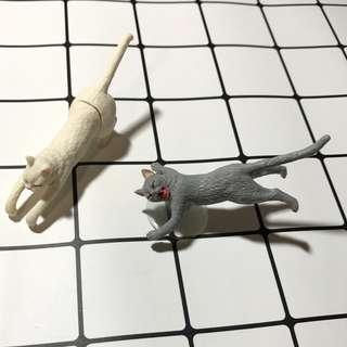 貓咪杯緣子扭蛋吸盤可愛療癒動物家族