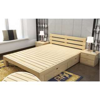 Brand New Solid Pine Wood Bedframe with Drawer