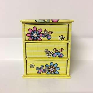 Yellow Cute Miniature 3 Drawer Box (RRP: $15.00)