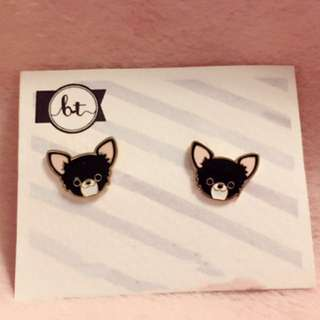 Doggy earrings 動物 耳環 狗仔 puppy dog Korean fashion Style Trendy Korea 多款 Cute Cutie lovely cartoon animals 卡通 Colorful 彩色 韓國