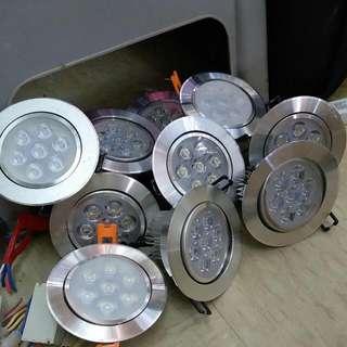飾櫃4吋led 射燈,7w,6500k