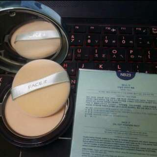 FREE POS [NEW] FACE it Oil Cut Powder Pact