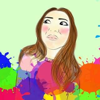 digital art sketsa wajah