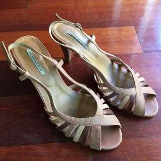 Tony Bianco Tan Leather Heels