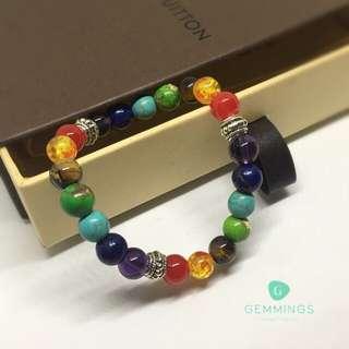 💪Full Spectrum 7 Chakra Booster Bracelet (8mm)