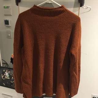 Topshop Brickred Sweater