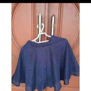 Rok Biru Dongker / Navy Skirt