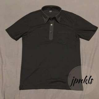 Uniqlo Polo Kerah Kemeja Dry Comfort Black