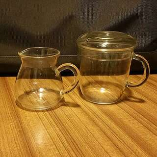 Glass Pot And Cup