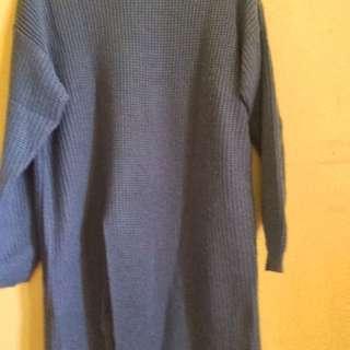 Slit Sweater Denim