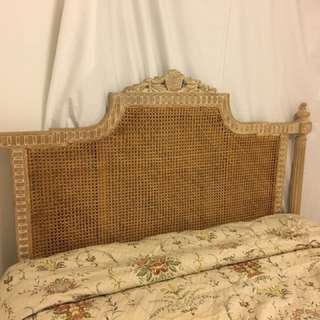 French Cane Queen Bed