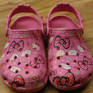 Crocs Kitty 童鞋 拖鞋 涼鞋 洞洞鞋