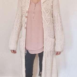 Wool Cardigan Sweater