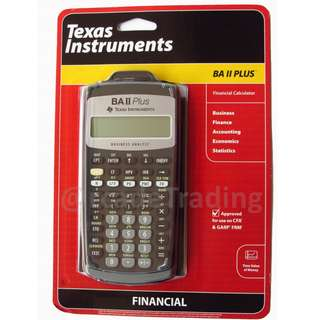 Texas Instrument NEW BA II Plus Financial Calculator CFA Approved FIXED