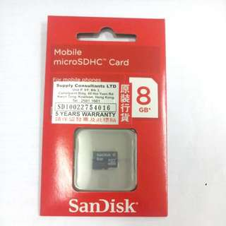 (包郵) SanDisk mircoSD Card 8GB