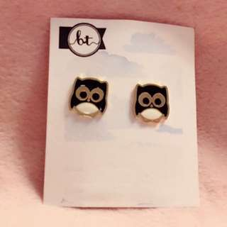 貓頭鷹 耳環 Owl Earrings 動物 卡通 Cartoon Korean fashion Style Trendy Korea 多款 Cute Cutie lovely Colorful 彩色 Animals 韓國
