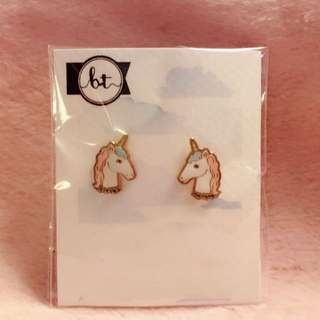 獨角獸 耳環 Unicorn Earrings 動物 馬 horse 卡通 Cartoon Korean fashion Style Trendy Korea 多款 Cute Cutie lovely Colorful 彩色 Animals 韓國