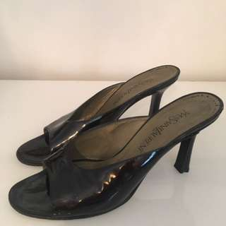YSL Slingback Heels Size 40 Patent Leather