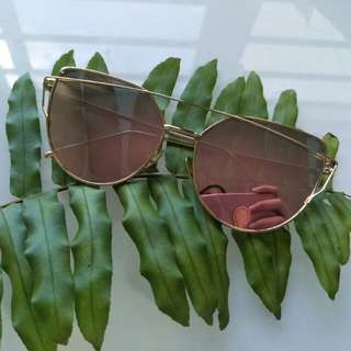 Mirrored Sunglass UV400 Gold Frame