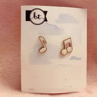 音符 耳環 Musical Note Earrings music symbols fonts 音樂 Korean fashion Style Trendy Korea 多款 Cute Cutie lovely Colorful 彩色 piano violin instrument 韓國
