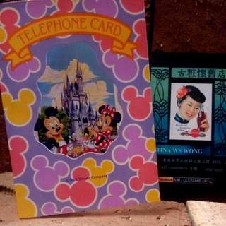 中古 90 年代 Japan Tokyo Disneyland 電話卡 ( 東京迪士尼樂園內發售 )