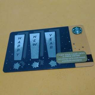 Happy New Year Starbucks Card