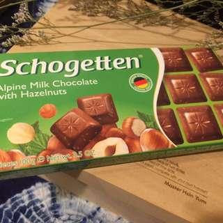 🍫德國Schogetten 方磚巧克力 (阿爾卑斯牛奶榛果口味)