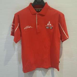 Mitsubishi Ralliart Red Polo T-SHIRT Medium Size