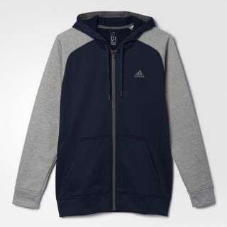 美國直送*全新真品Adidas Tech Fleece系列 貝克漢代言 灰藍 彈性休閒運動外套/M