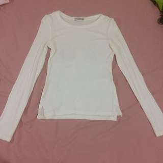 white long sleeve bershka