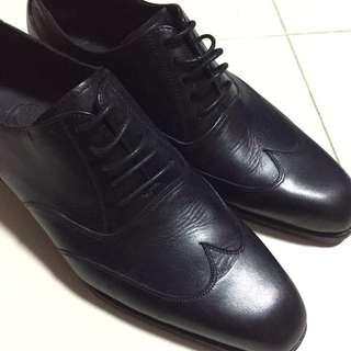 Kent Black Leather Shoe