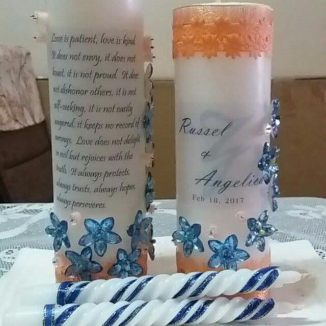 4 Pc Unity Candle set