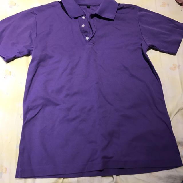紫色素襯衫