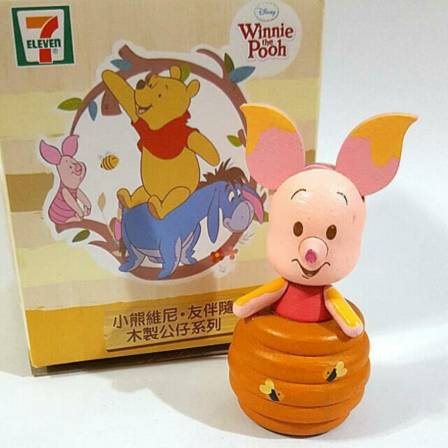 [包郵] 粉紅小豬 7-11 小熊維尼·友伴隨木製公仔系列