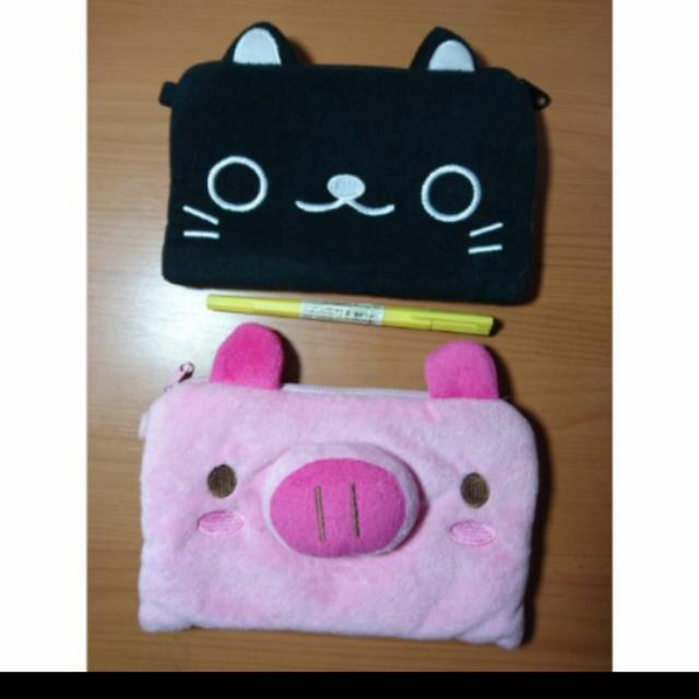 貓咪豬豬 收納包 筆袋