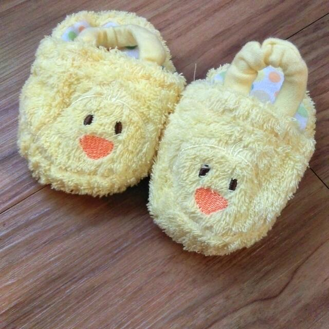 小鴨 毛巾材質 寶寶造型拖鞋