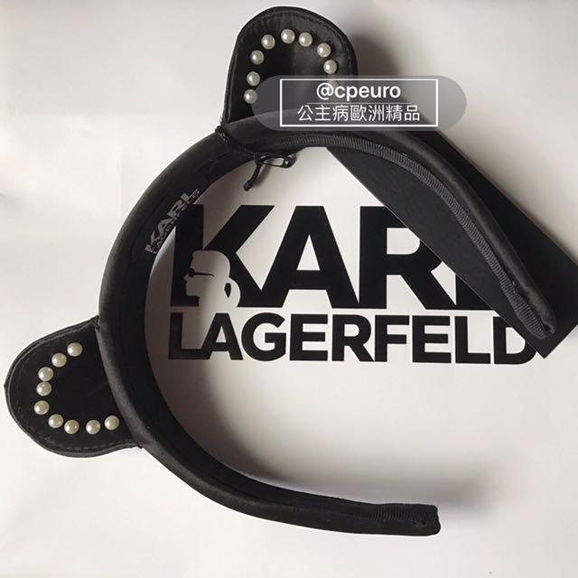 現貨 KARL LAGERFELD 髮飾 老佛爺 貓咪耳朵 髮圈 夏天 小清新 帽 貓咪 貓耳 可愛 FENDI