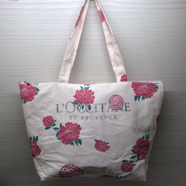 現貨!全新超美粉紅牡丹玫瑰花大帆布提袋A4袋肩背包肩背袋文青包