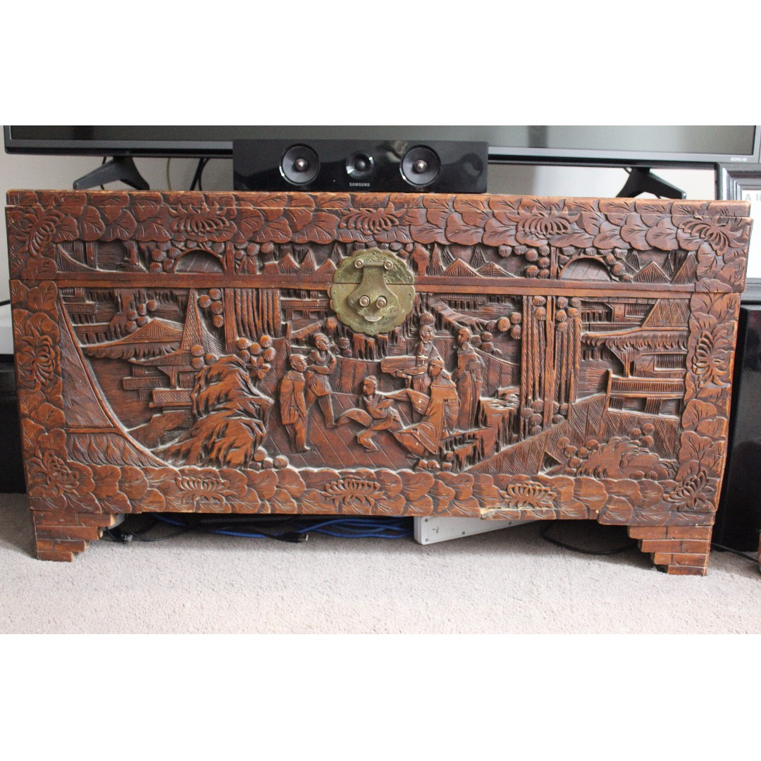 Antique Chinese Wooden Chest Antiques
