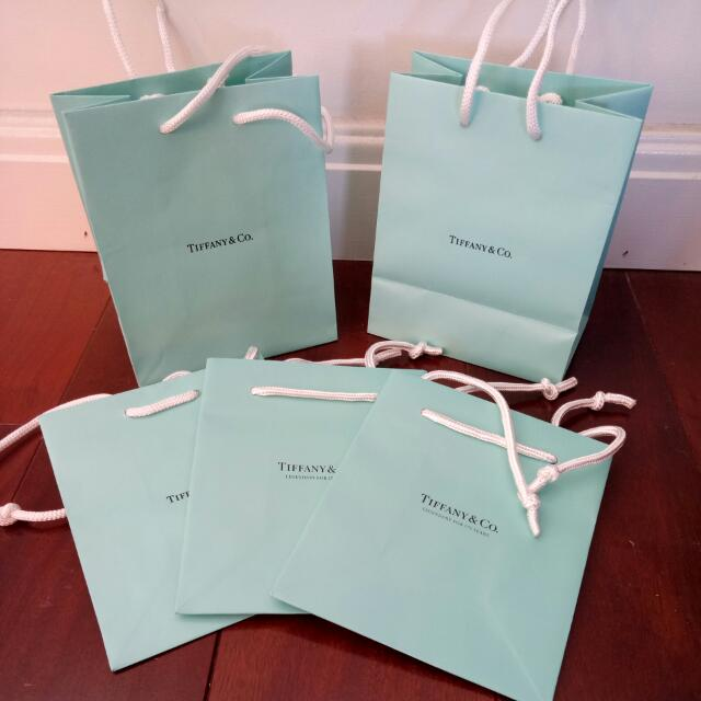 4f668e5177a Authentic Tiffany & Co. Small Gift Bag x 5 Bundle Set, Luxury, Bags ...