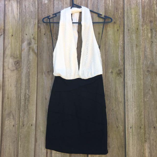 Backless Halter Neck Dress Size 10