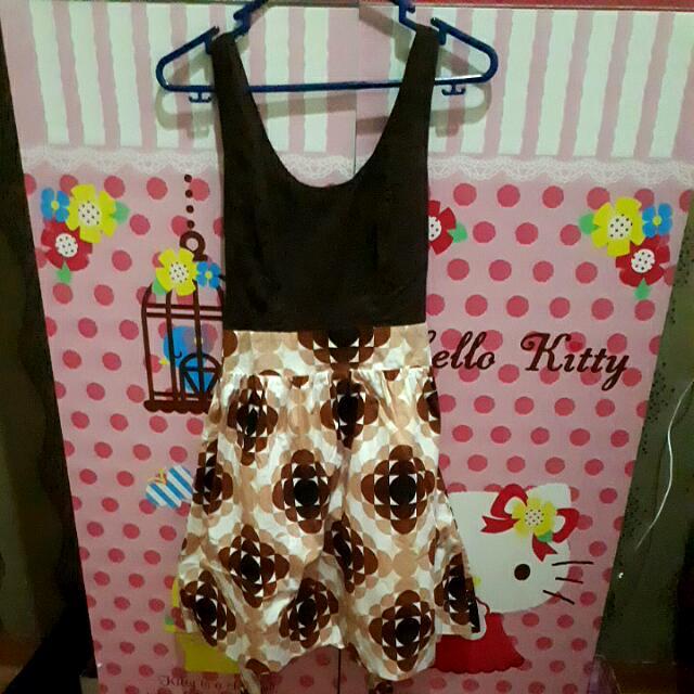 Baju Brown Pattern Dress