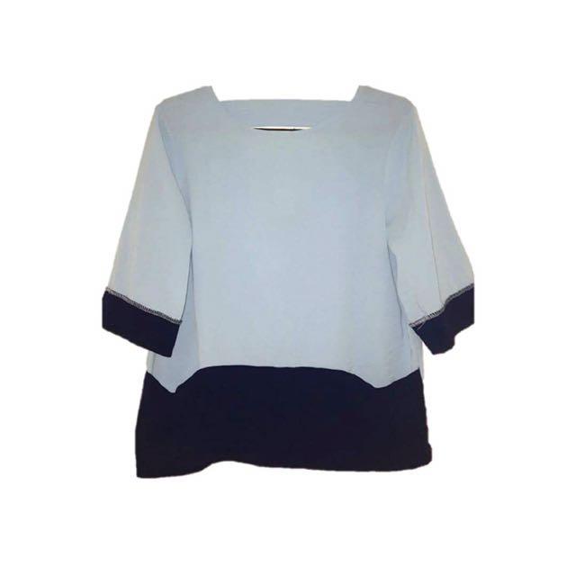 BAYO Blue 3/4 Sleeves Top