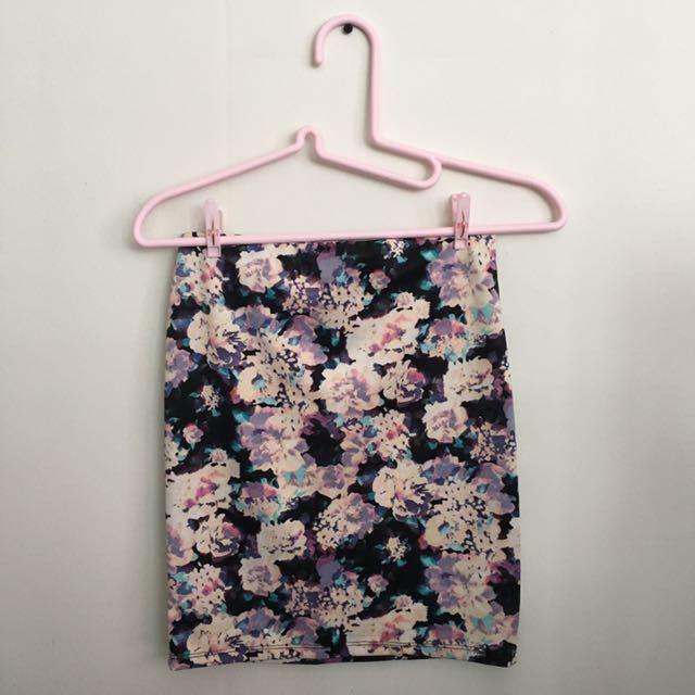 Bershka Floral Skirt
