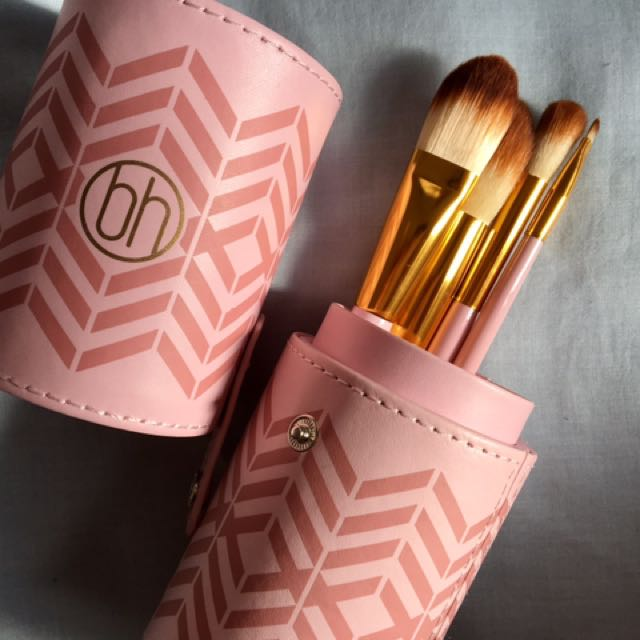 BH Cosmetics Brush Set - Pink Gold