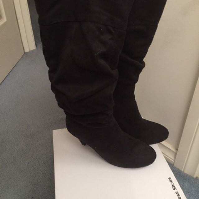Black Suede Dress Boots